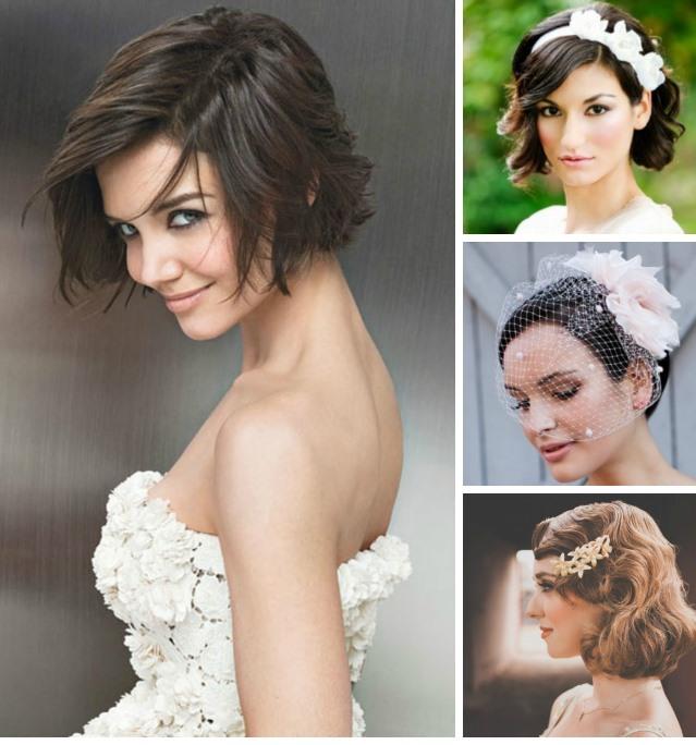 wedding-short-hair-style