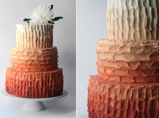 terracotta_ombre_wedding_cake_texture_detail